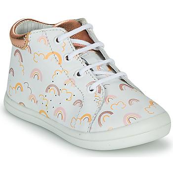 Schoenen Meisjes Hoge sneakers GBB NAHIA Wit / Roze