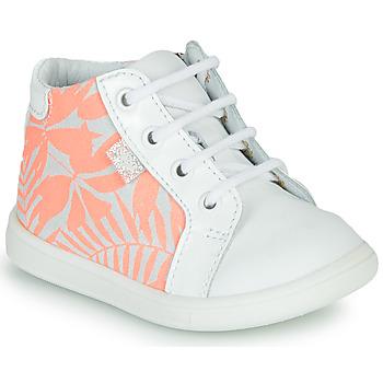 Schoenen Meisjes Hoge sneakers GBB FAMIA Wit / Roze