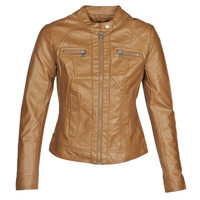 Textiel Dames Leren jas / kunstleren jas Only ONLBANDIT Cognac