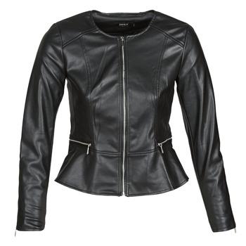 Textiel Dames Leren jas / kunstleren jas Only ONLJENNY Zwart