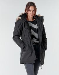 Textiel Dames Parka jassen Only ONLIRIS Zwart