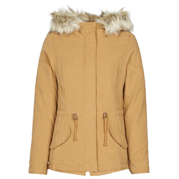 Textiel Dames Parka jassen Only ONLNEW LUCCA Camel