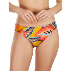 Textiel Dames Bikinibroekjes- en tops Selmark Bas de maillot de bain bikini Etnica  Mare Lavendel