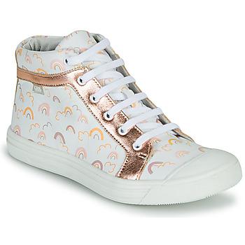Schoenen Meisjes Hoge sneakers GBB LEOZIA Wit / Roze