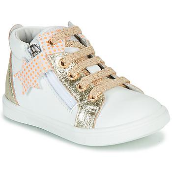 Schoenen Meisjes Hoge sneakers GBB VALA Wit / Goud