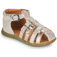 Schoenen Meisjes Sandalen / Open schoenen GBB PERLE Wit / Roze / Goud