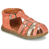 Schoenen Meisjes Sandalen / Open schoenen GBB PERLE Koraal / Goud