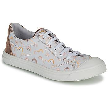 Schoenen Meisjes Lage sneakers GBB MATIA Wit / Roze