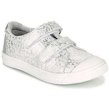 Schoenen Meisjes Lage sneakers GBB NOELLA Wit / Zilver