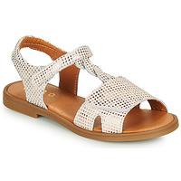 Schoenen Meisjes Sandalen / Open schoenen GBB FARENA Wit / Roze / Goud