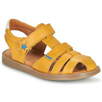 Schoenen Jongens Sandalen / Open schoenen GBB MARINO Geel