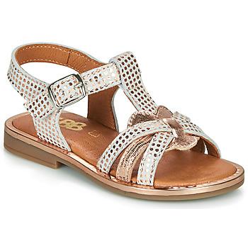Schoenen Meisjes Sandalen / Open schoenen GBB EGEA Wit / Roze / Goud
