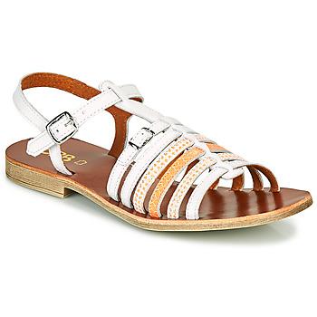 Schoenen Meisjes Sandalen / Open schoenen GBB BANGKOK Wit / Oranje