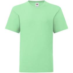 Textiel Kinderen T-shirts korte mouwen Fruit Of The Loom 61023 Neo Mint