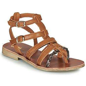 Schoenen Meisjes Sandalen / Open schoenen GBB NOVARA Bruin