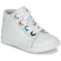Schoenen Meisjes Hoge sneakers Little Mary VITAMINE Wit