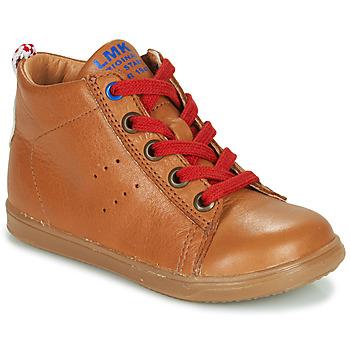 Schoenen Jongens Hoge sneakers Little Mary LEON Bruin