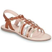 Schoenen Meisjes Sandalen / Open schoenen Little Mary BARBADE Bruin
