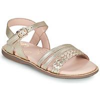 Schoenen Meisjes Sandalen / Open schoenen Little Mary LIME Goud