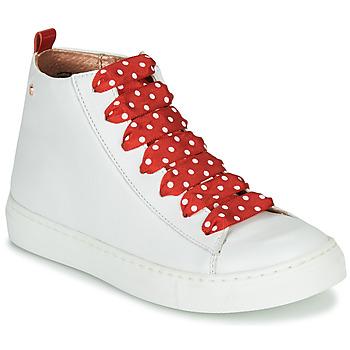 Schoenen Meisjes Hoge sneakers Little Mary SASHA (VE014) Wit / Rood