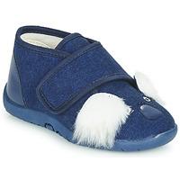Schoenen Kinderen Sloffen Little Mary KOALAVELCRO Blauw
