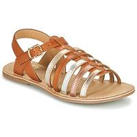 Schoenen Meisjes Sandalen / Open schoenen Little Mary BARBADE Cognac / Roze