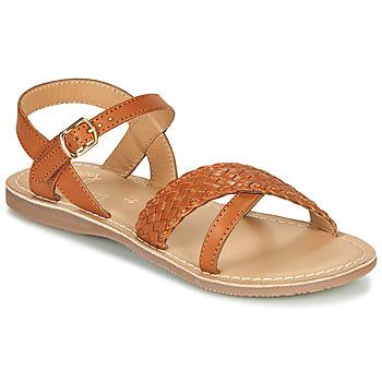 Schoenen Meisjes Sandalen / Open schoenen Little Mary LIANE Cognac