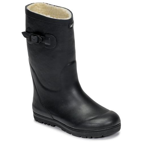Schoenen Kinderen Regenlaarzen Aigle WOODY POP FUR Marine