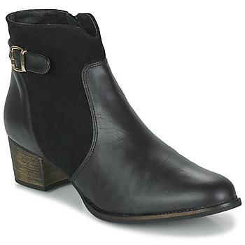 Schoenen Dames Enkellaarzen So Size SERELLE Zwart