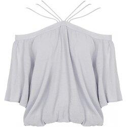 Textiel Dames Tops / Blousjes See U Soon 20111182 Grijs