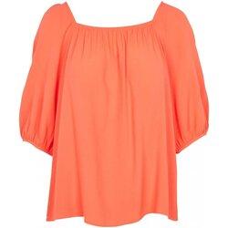 Textiel Dames Tops / Blousjes See U Soon 20111195 Oranje