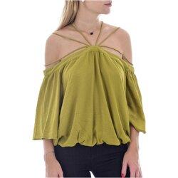 Textiel Dames Tops / Blousjes See U Soon 20111182 Groen