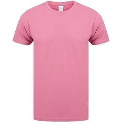 Textiel Heren T-shirts korte mouwen Skinni Fit SF121 Schemerig Roze