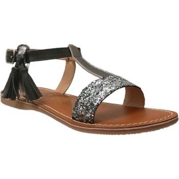 Schoenen Meisjes Sandalen / Open schoenen L'atelier Tropezien Il112 Zwarte glitter