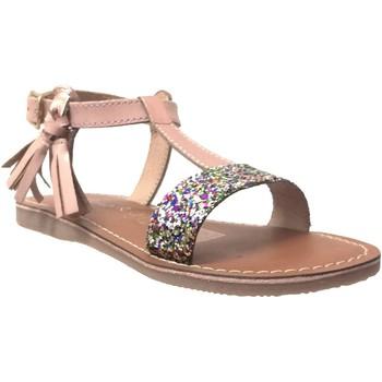 Schoenen Meisjes Sandalen / Open schoenen L'atelier Tropezien Il112 Metallic roze