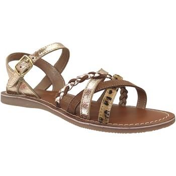 Schoenen Meisjes Sandalen / Open schoenen L'atelier Tropezien Il108 Metallic platina