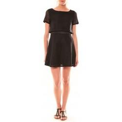 Textiel Dames Korte jurken La Vitrine De La Mode Robe LC-0461 By La Vitrine Noire Zwart