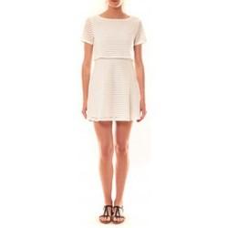 Textiel Dames Korte jurken La Vitrine De La Mode Robe LC-0461 By La Vitrine Blanche Wit