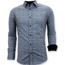 Textiel Heren Overhemden lange mouwen Tony Backer Getailleerde Blauw