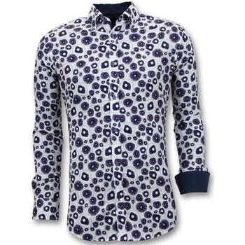 Textiel Heren Overhemden lange mouwen Tony Backer Luxe Aparte Digitale Print Wit