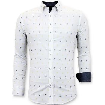Textiel Heren Overhemden lange mouwen Tony Backer Italiaans Wit