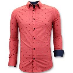 Textiel Heren Overhemden lange mouwen Tony Backer Blouse Rood