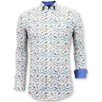 Textiel Heren Overhemden lange mouwen Tony Backer Luxe Digitale Print Wit