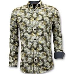 Textiel Heren Overhemden lange mouwen Tony Backer Luxe Digitale Print Geel