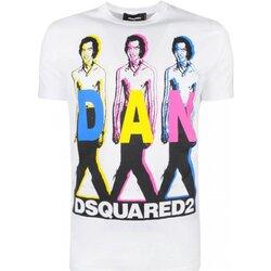 Textiel Heren T-shirts korte mouwen Dsquared S74GD0498 Wit