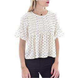 Textiel Dames Tops / Blousjes See U Soon 20119097B Wit