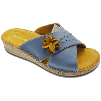 Schoenen Dames Leren slippers De Fonseca DEFONEULALIAblu blu