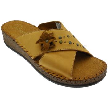 Schoenen Dames Leren slippers De Fonseca DEFONEULALIAcuo marrone