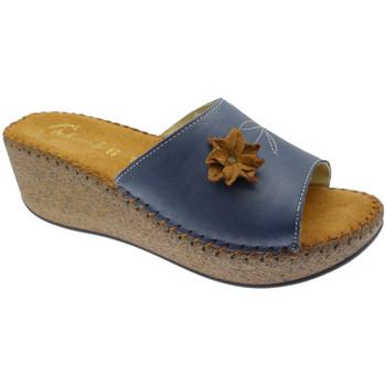 Schoenen Dames Leren slippers De Fonseca DEFONDEVOTAblu blu
