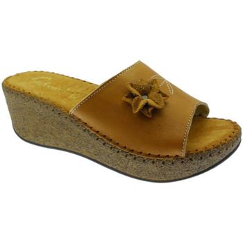 Schoenen Dames Leren slippers De Fonseca DEFONDEVOTAcuo marrone